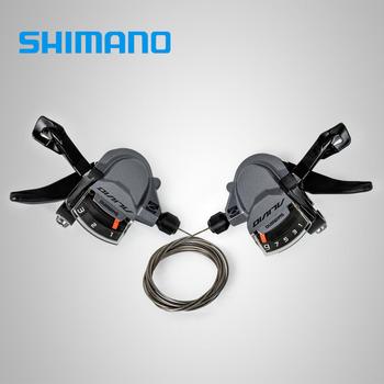 SHIMANO ALIVIO SL M4000 3x9S 27 prędkości dźwignia zmiany biegów spust z wewnętrzne kable 3s 9s opcje tanie i dobre opinie Conjoined dip Przerzutki ALIVIO M4000 Stop Derailleurs Grey