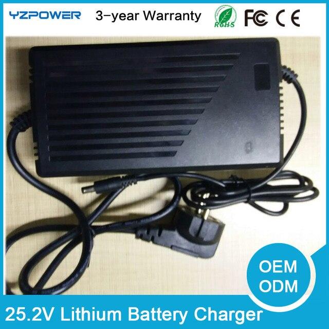 25.2 V 9.5A 7.5A 8.5A 9A 8A 7A 6A 6.5A Inteligente Lthium Li-ion Carregador de Bateria Para 6 S 3.6 V 3.65A 3.7 V Lipo bateria