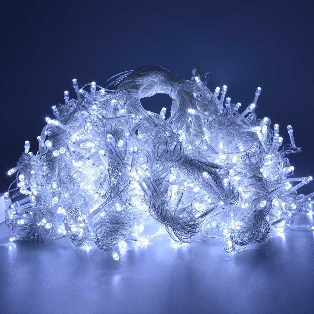4M 96 LEDS 220v / 110v AC LED string Percutian Krismas cahaya untuk - Pencahayaan perayaan - Foto 4