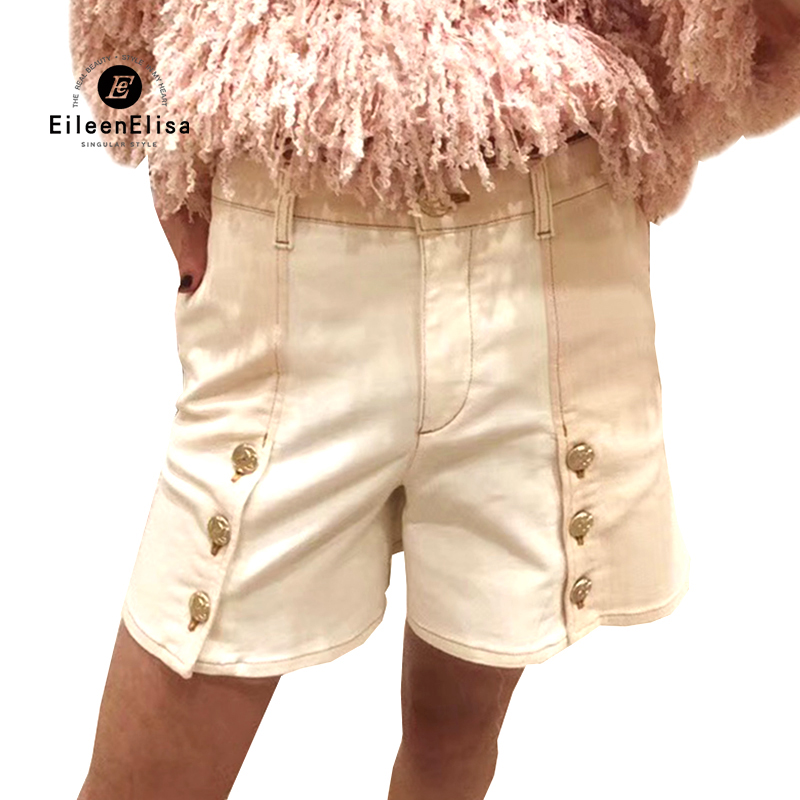 button shorts women summer 2018 high waist shorts women's high quality casual shorts female hot