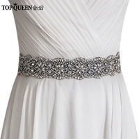 TOPQUEEN S04B Women S Rhinestones Crystals Bridal Bride Waist Wedding Belts Sashes Accessories For Evening Party