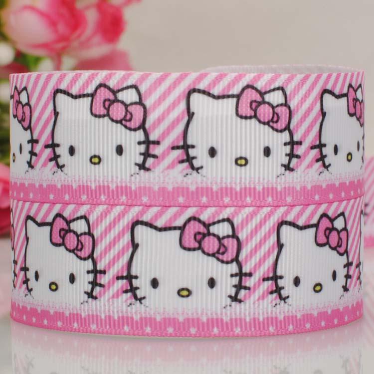 20Y 7822mm 2015new hot Rose de bord kitty ribbon  grosgrain ribbon   printed grosgrain ribbon  DIY ployester ribbon