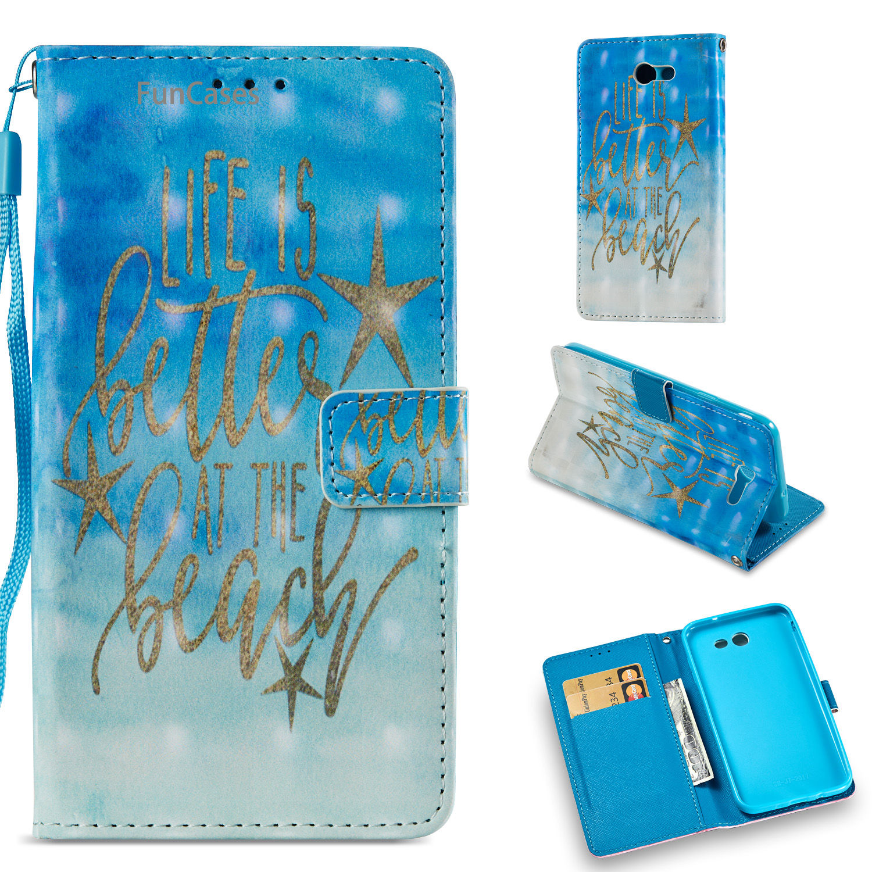 Cute Bear Flip Flip Phone Case sFor Carcasa Samsung J7 2017 US Version Card slot Case Estojo Samsung Galaxy J720 US Version