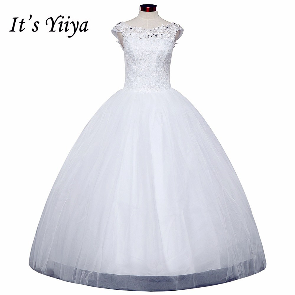 Buy free shipping yiiya wedding dresses for Plus size lace wedding dresses cheap