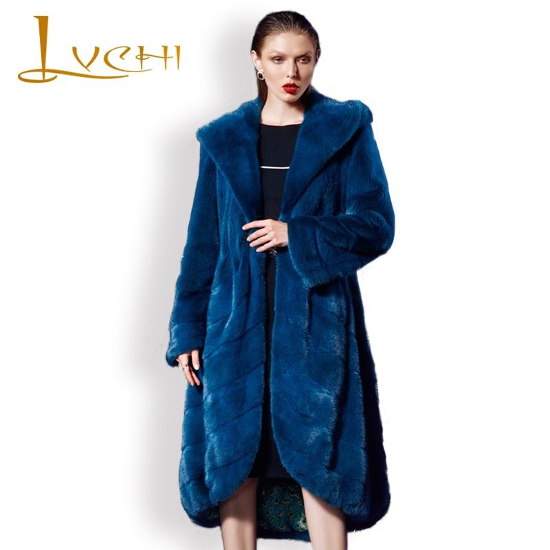 LVCHI Real Mink fur Winter down jacket for women Noble