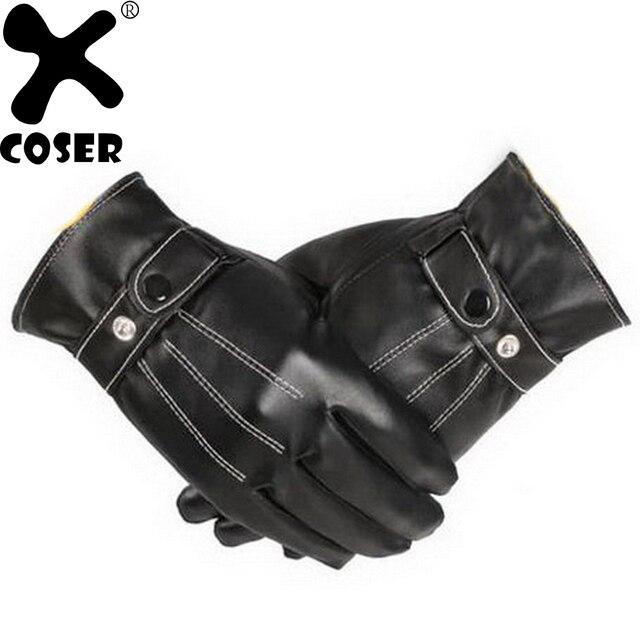 XCOSER Kylo Ren Cosplay traje accesorio Star Wars 7 Touchable negro PU  guantes de cuero guantes 2f9a8f6cae54
