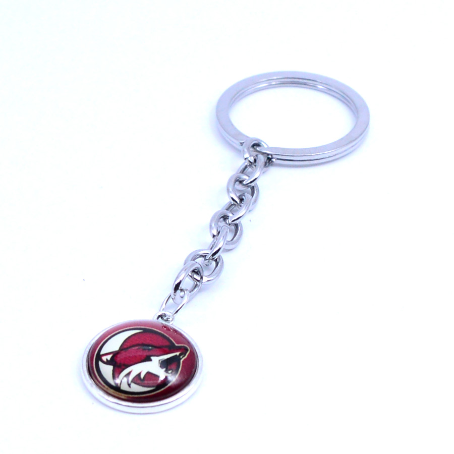 Ice Hockey Keychain NHL Phoenix Coyotes Charm Key Chain Car Keyring for Women Men Party Birthday Keyrings Gifts New 2018
