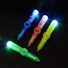 Волшебный светильник 2 в 1, комбо, креативная невидимая светящаяся чернильная Гироскопическая ручка, Популярные случайные цвета, детские игрушки