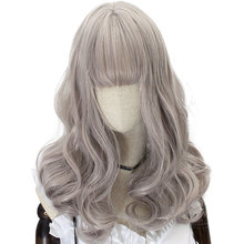 HSIU Harajuku Lolita wig Princess Women's girl's lady sweet Cute Lolita cosplay wig grey pink Vintage European NEW High quality