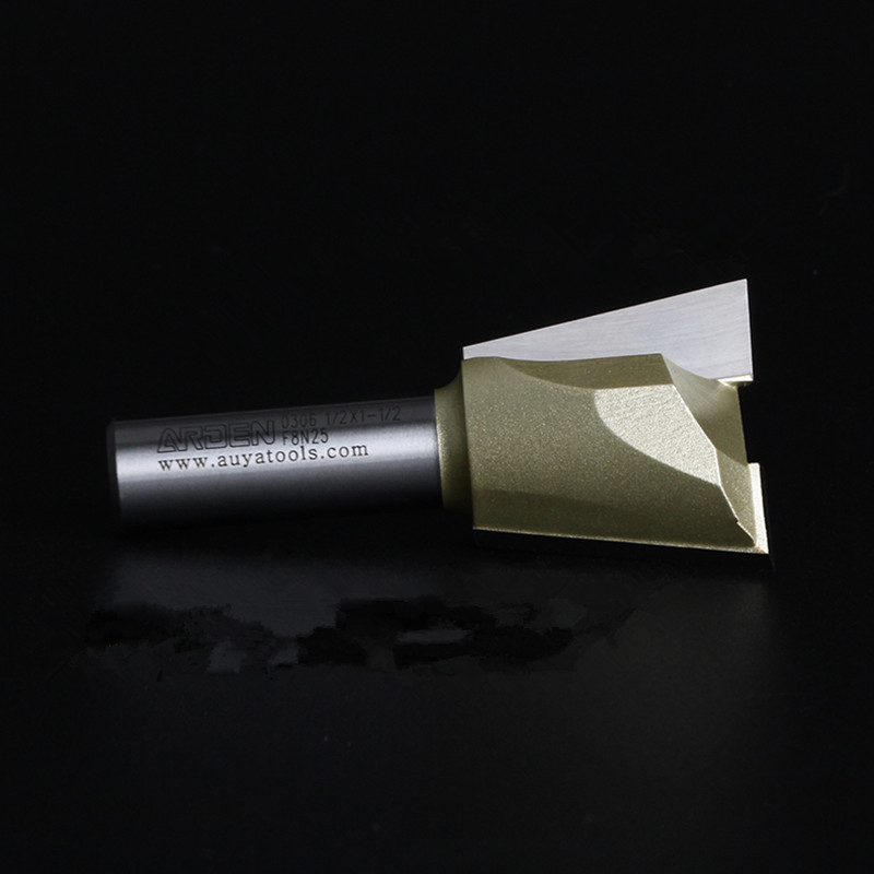 1-1/2 38.1MM CNC cutter Dovetail milling cutter 1/2 shank  Router Bit Trimming knife Woodworking Tool shank for Gongs milling