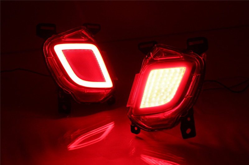 Vland factory for car bumper light for Toyota Highlander LED Rear Bumper Lights 2015-2017 for Highlander Warning light high quality abs chrome rear bumper scuff trim for 2015 toyota highlander