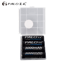 PALO 1.2V 3000mAh NI MH AA Pre-Charged Rechargeable Batteries Ni-MH Rechargeable aa Battery For Toys Camera Microphone
