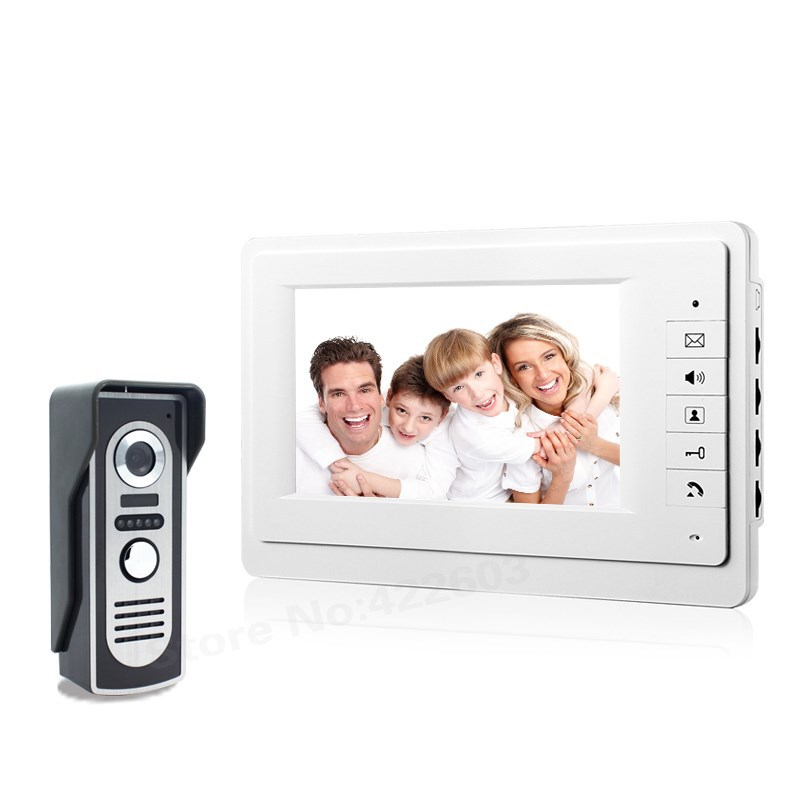 7 Monitor Color Video Door Phone Intercom Doorbell System IR Camera Doorphone Speakerphone Intercom консервы clan cat для взрослых кошек паштет с телятиной и индейкой 100 г page 3