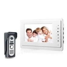 7 Moniteur Couleur Vidéo Porte Téléphone Interphone Sonnette Système IR Caméra Interphone Haut-Parleur Interphone