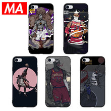 MA Basketball star LeBron Silicone Phone Case For IPhone 7 8 Plus XS Max XR Cases For IPhone X 8 7 6 6S Plus 5 SE Soft TPU Cover