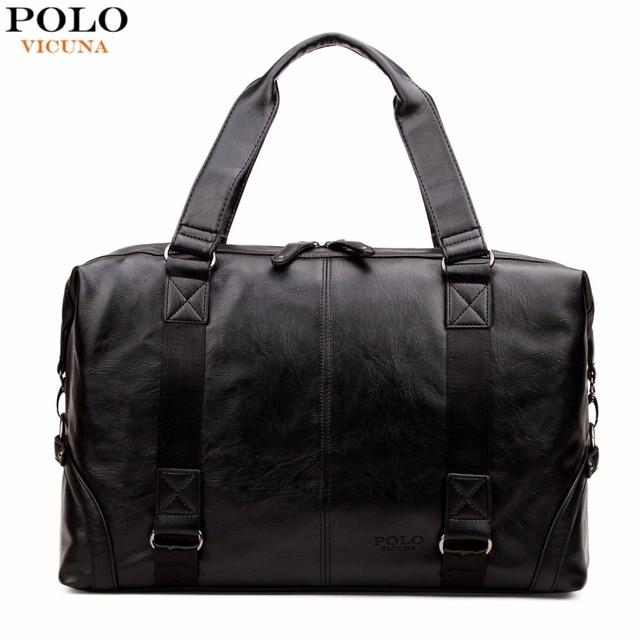 Vicuna polo molle bolsa de equipaje de gran capacidad masculina bolsa de viaje de cuero casual bolsa de hombro bolsos del bolso de múltiples funciones