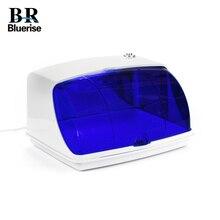 BLUERUSE УФ стерилизатор для ногтей, коробка, профессиональная бытовая техника, салонный светодиодный дезинфицирующий инструмент, чистящие косметические инструменты, оборудование для ногтей