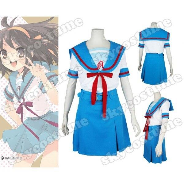 Suzumiya Haruhi no Yuuutsu Suzumiya Haruhi School Uniform Cosplay Costume
