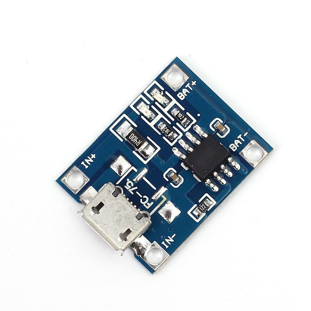 10Pcs/lot TP4056 5V 1A Micro USB Charger Module 18650 Lithium Battery Charging Board Led Indicator Current Adjustable