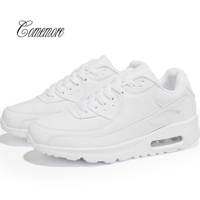 Zapatillas blancas Comemore para hombre, almohadillas de aire para mujer, zapatillas deportivas de cuero para hombre, zapatillas de tenis para hombre