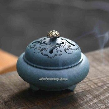 Antique bluing Metal Blue Brass Copper Coils incense Zinc Alloy Censer Thurible burner Coil Incense burner Incensory