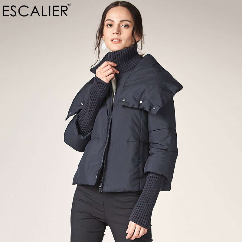 Escalier Women Thick   Down     Coats   2017 Casual White Duck   Down   Winter   Coat   Warm Slim Zipper Women Fashion Light Outwear