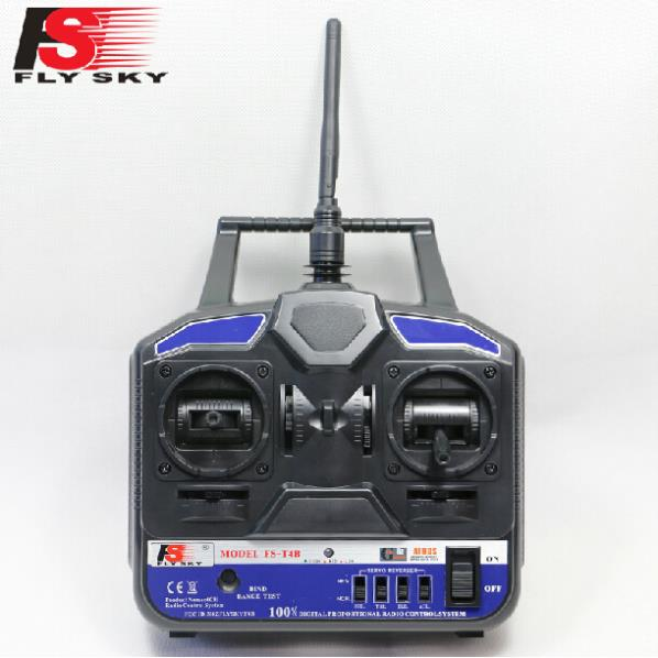 New FlySky 2.4G 4CH Channel FS-T4B Transmitter + Receiver Radio System Remote Controller Mode1/2 W/ Rx RC Heli Multirotor flysky 2 4g 6ch channel fs t6 transmitter receiver radio system remote controller mode1 2 lcd w rx rc helicopter multirotor