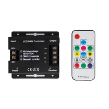 DMX RGB LED Controller For Strip Bluetooth IR 4 Pin DC 5V 12V 24V Music Remote Dimmers DMX512 Channel