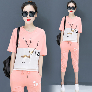 YICIYA pink outfits short 2 piece set women tracksuits pant and top plus size summer 2019 co-ord set cotton 2 pieces 2019 sets