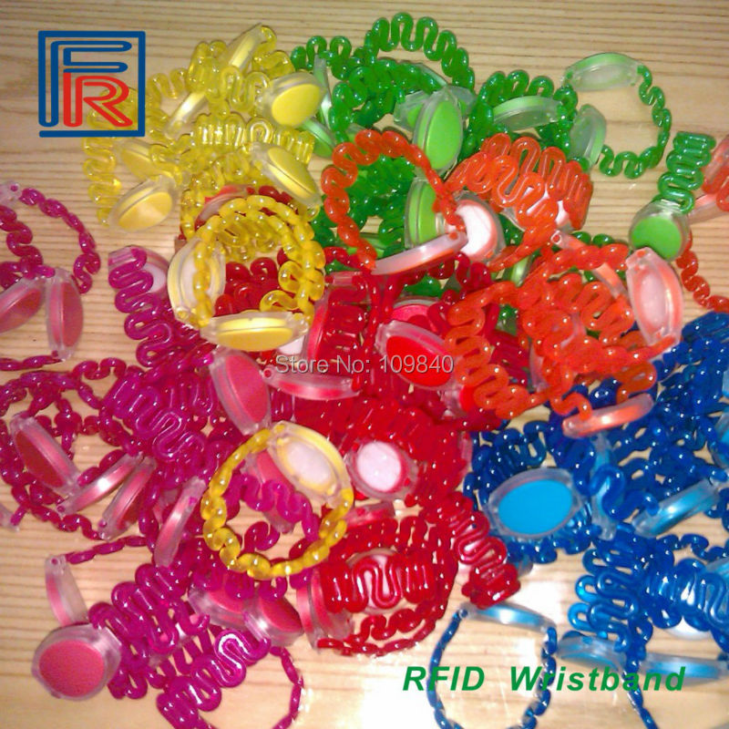 High quality ABS wristbands with 13.56MHz M1 chip RFID Waterproof bracelet for natatorium,Beach,Water park Locker card 500pcs