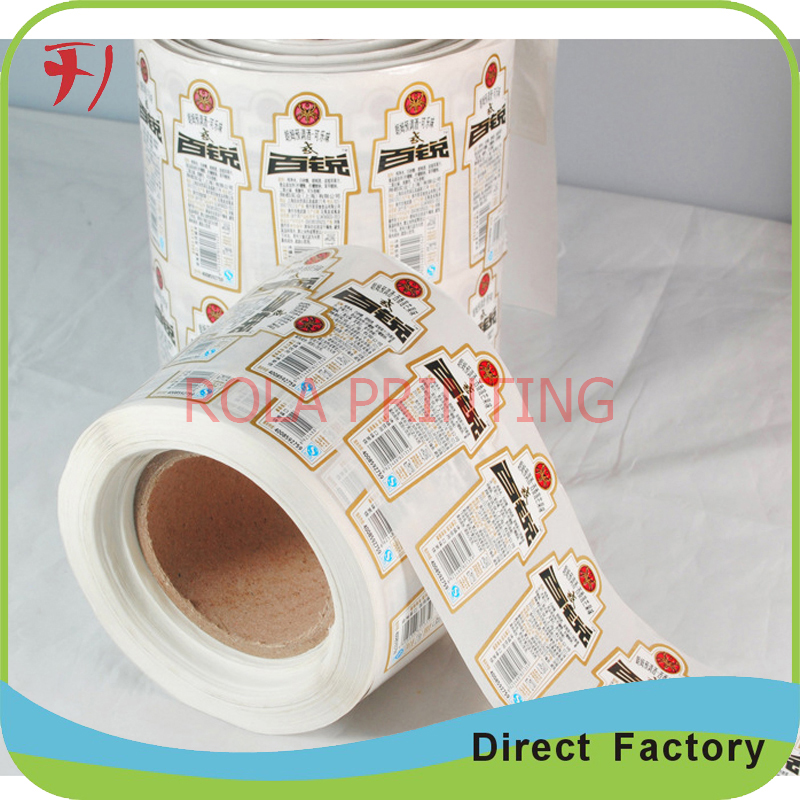 Fancy designs customized scanning stickers paper adhesive,roll printing custom made barcode label