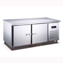 250L кухонный холодильник из нержавеющей стали, шкаф для одежды, план работы, коммерческий холодильник с морозильной камерой 1,5 м Leng