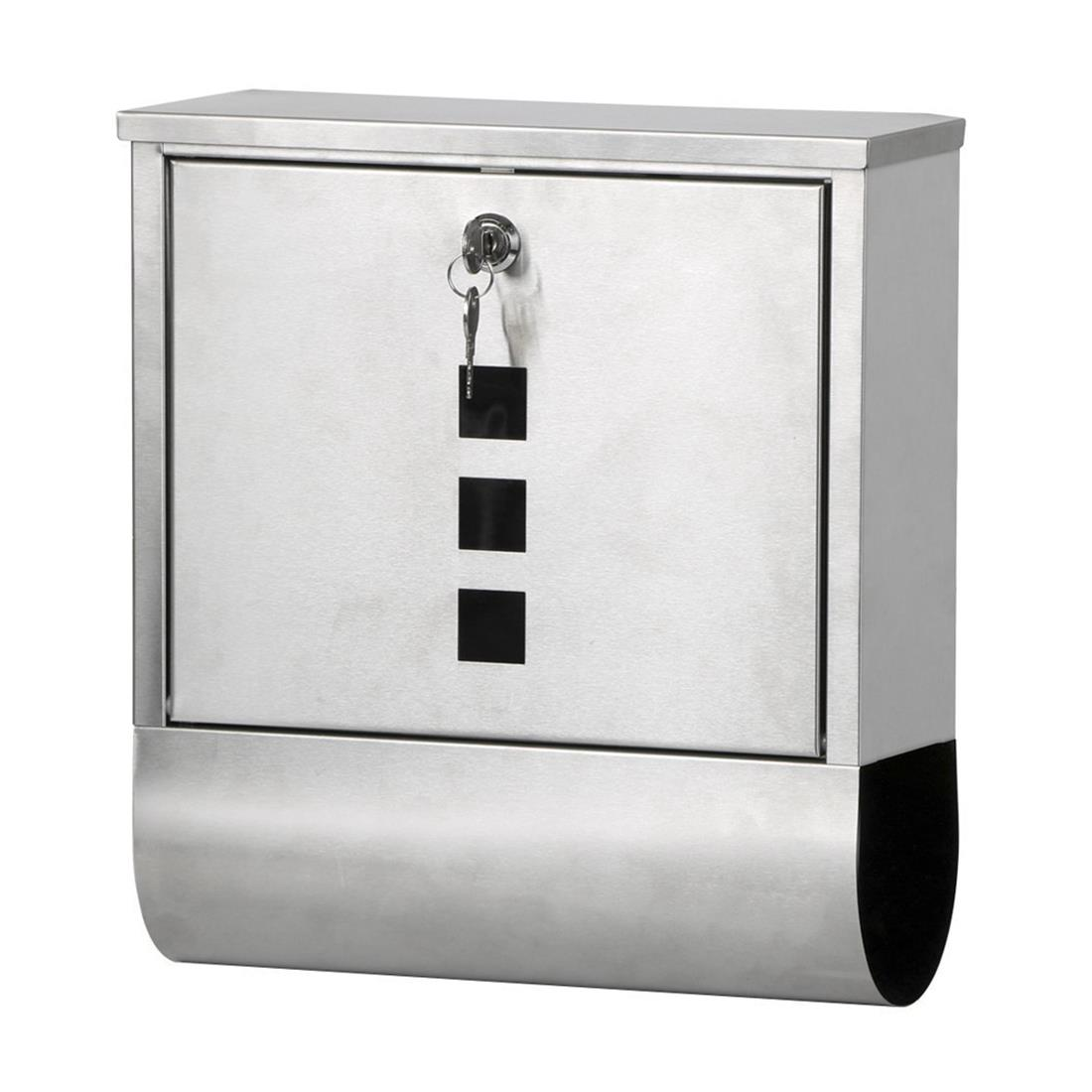 JFBL Hot Waterproof Stainless Steel Lockable Mailbox Newspaper Holder Outdoor Mail Post Letter Box security mail bag w lockable belt closure 18w x 30h