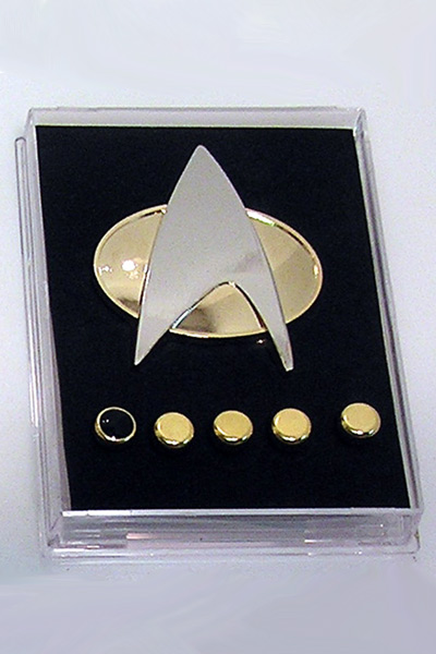 Star Trek Voyager Communicator Metal Badge Pin&Rank Pip/Pips 6pcs Set Cosplay Prop Free Shipping