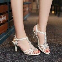 BISI GORO new medium heel sandals women peep toe summer shoes sandals white prom shoes high