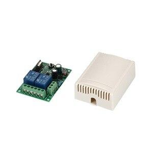 Image 4 - 433 Mhz מתג שלט רחוק אלחוטי אוניברסלי AC 85 V ~ 250 V 110 V 220 V ממסר 2CH מקלט מודול RF 433 Mhz שלט רחוק