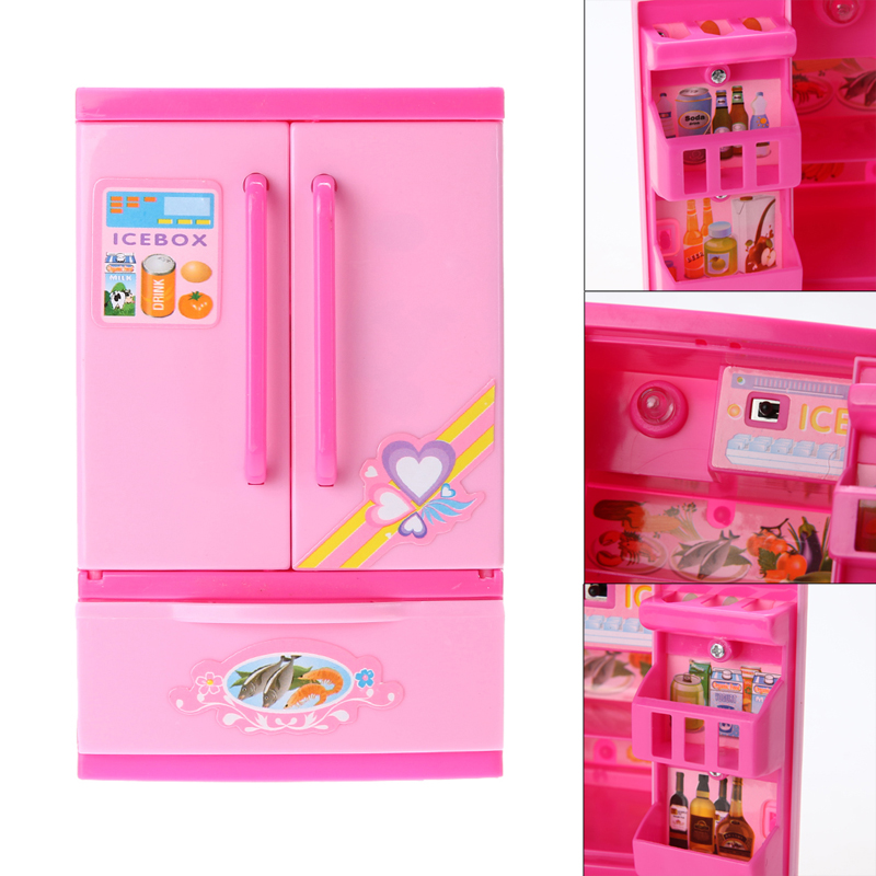 Lovely Children Girls Toy Refrigerator Kitchen Pretend Play Educational Toy House Toys Brinquedos High Quality Good