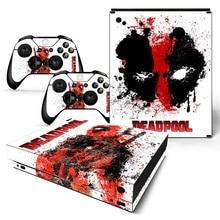 Drop Shipping Deadpool Design αυτοκόλλητο δέρμα για Xbox X κονσόλα και ελεγκτές