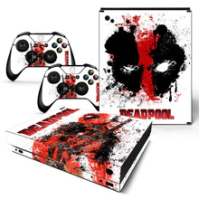 Drop Shipping Deadpool Design Skin Sticker for Xbox one X Console and Controllers стоимость