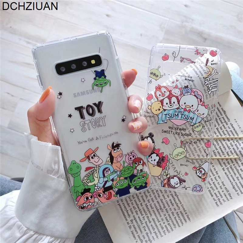 DCHZIUAN For Samsung S10 Plus Case Shockproof Cute Cartoon Phone Case For Samsung Galaxy Note 9 Note 10 Plus S10 TPU Cover Coque