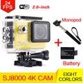 Стиль Действий камеры Wi-Fi 2 дюйм(ов) Спорт видеокамера 4 К 24fps DV НОВАТЭК NT96660 водонепроницаемая камера шлем Камеры мини