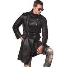 Real Sheepskin Fur Coat Genuine Leather Male Casual Winter Thick Double Breasted Jacket Black Green Warm Men Fur Long Outwear