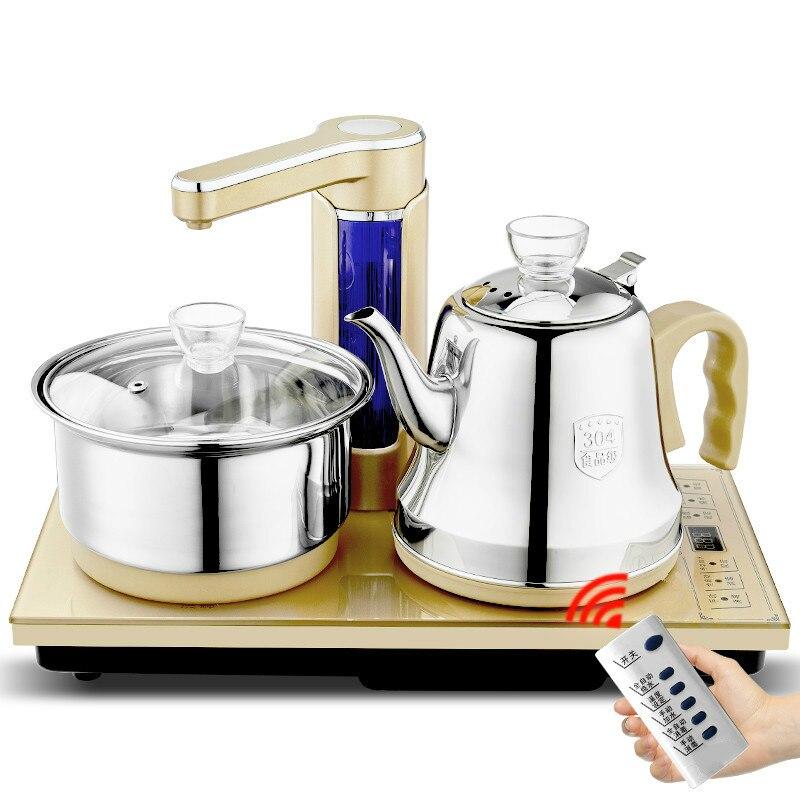 Полностью автоматическая Чай печь кунг фу Чай плита воды электромагнитный Электрический чайник из нержавеющей стали Кетт