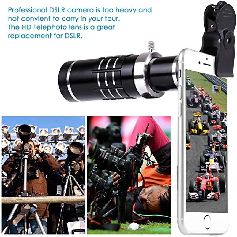 Telescope Lens 7in1 Camera Photo Universal Clips 18X Optical Zoom Lente+Bluetooth Shutter+Telephoto Lenses For iPhone Smartphone - 4
