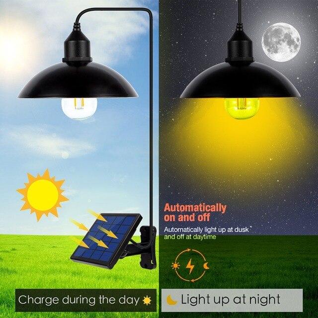 Garden Solar Light Retro Bulb Chandelier  1