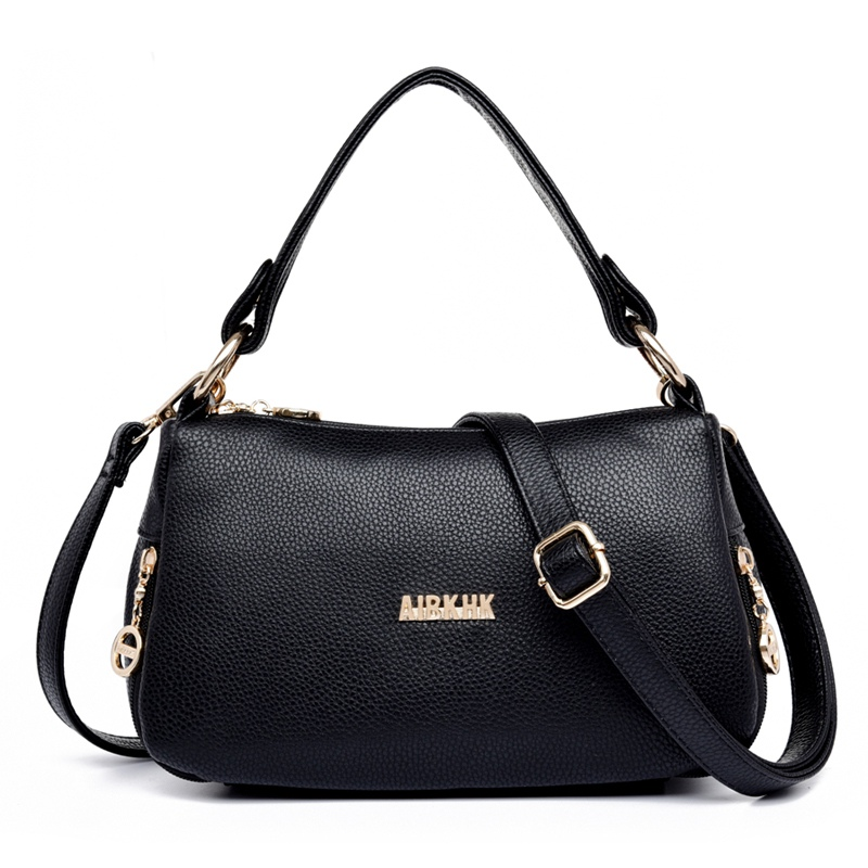 High Quality Fashion Women's Handbags Tote Leather Woman Bag Vintage Women Shoulder Bags Casual Ladies Crossbody Messenger Bags new fashion women pu leather vintage messenger bag ladies mini lock flip shoulder bag high quality girls casual crossbody bags