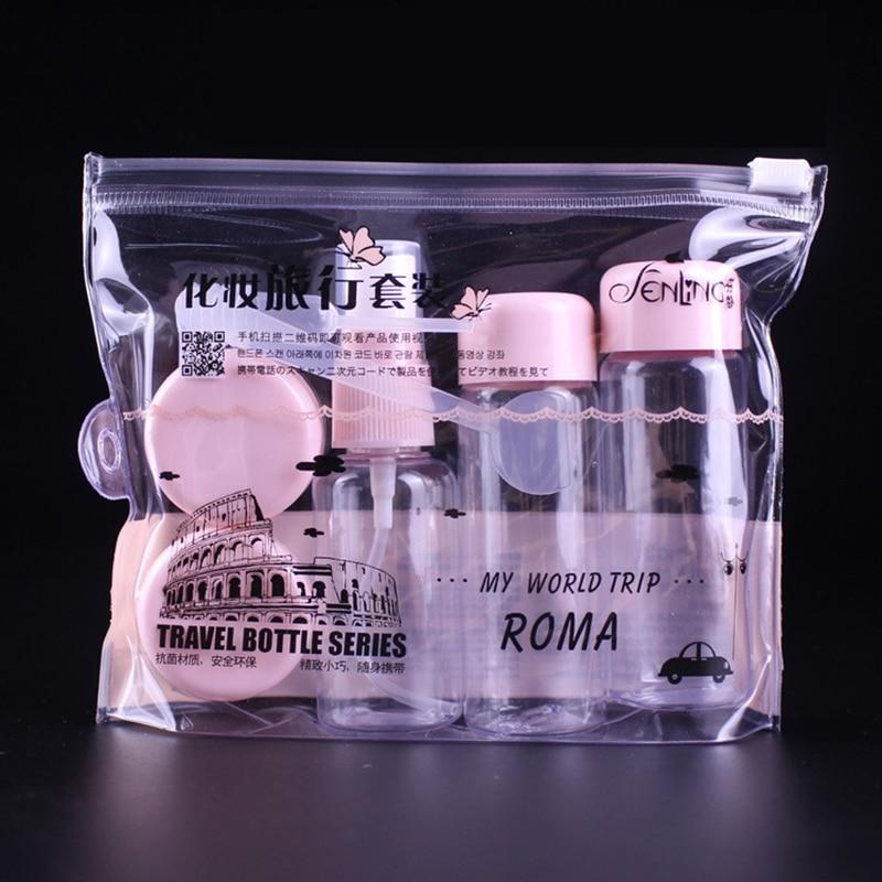 7pcs/set Cosmetic Empty Makeup Parfum Women Perfume Face Cream Container Spray Bottle Lotion Shampoo Cream Container P27