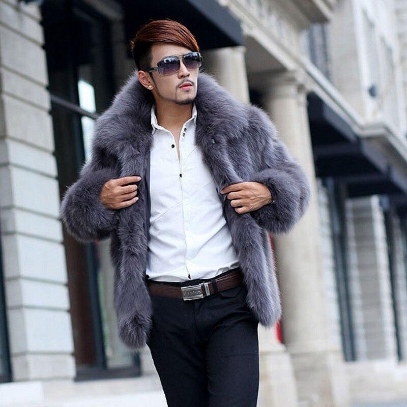 Survêtement Manteaux Manteau Vestes Surdimensionné 2b1262 En Grande Gris Xxxl Solide Luxe Fourrure Parka Cuir De Hommes Mince Taille Mode fnq5PP