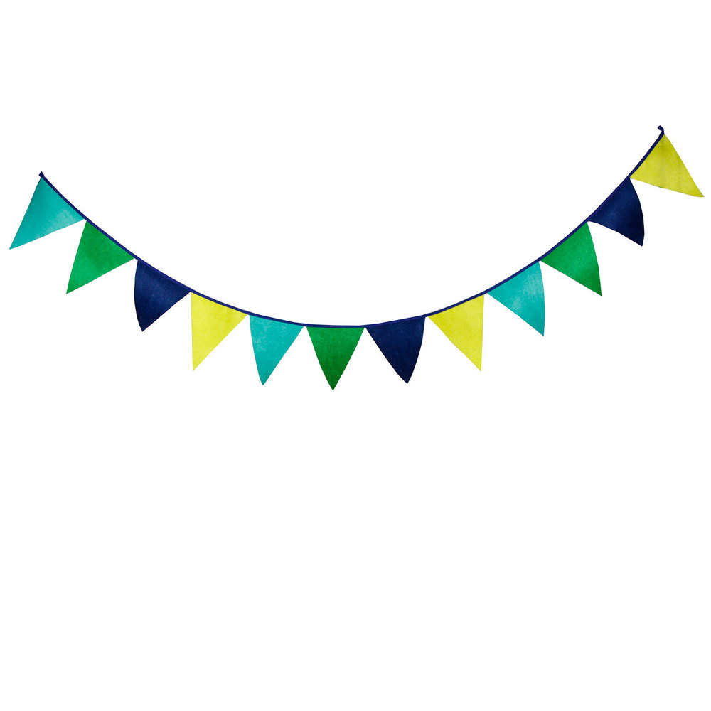 12 Flags 3.1m Cute Solid Green Yellow Mixed Nonwoven ...