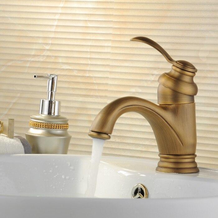 Antique Gold Black Silver Basin Faucet Polish Brass Tap Bathroom ...